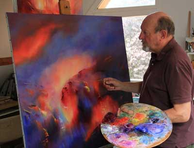 Patrick Waravka dans son atelier